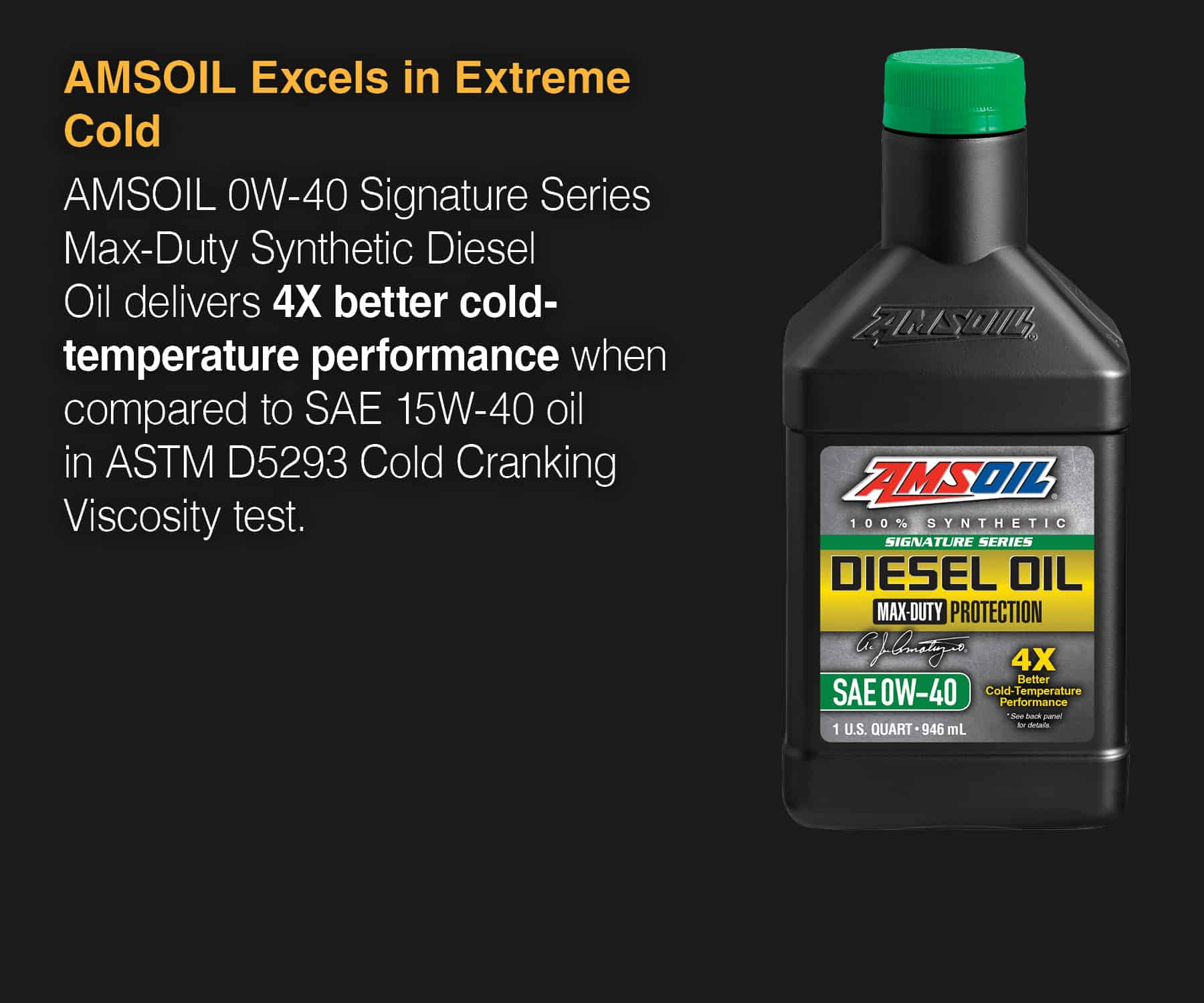 Signature Series 0W-40 Max-Duty Synthetic Diesel Oil