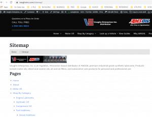 screen shot of Wisconsin AMSOIL website